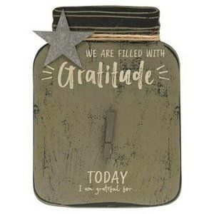 Gratitude Mason Jar Sign
